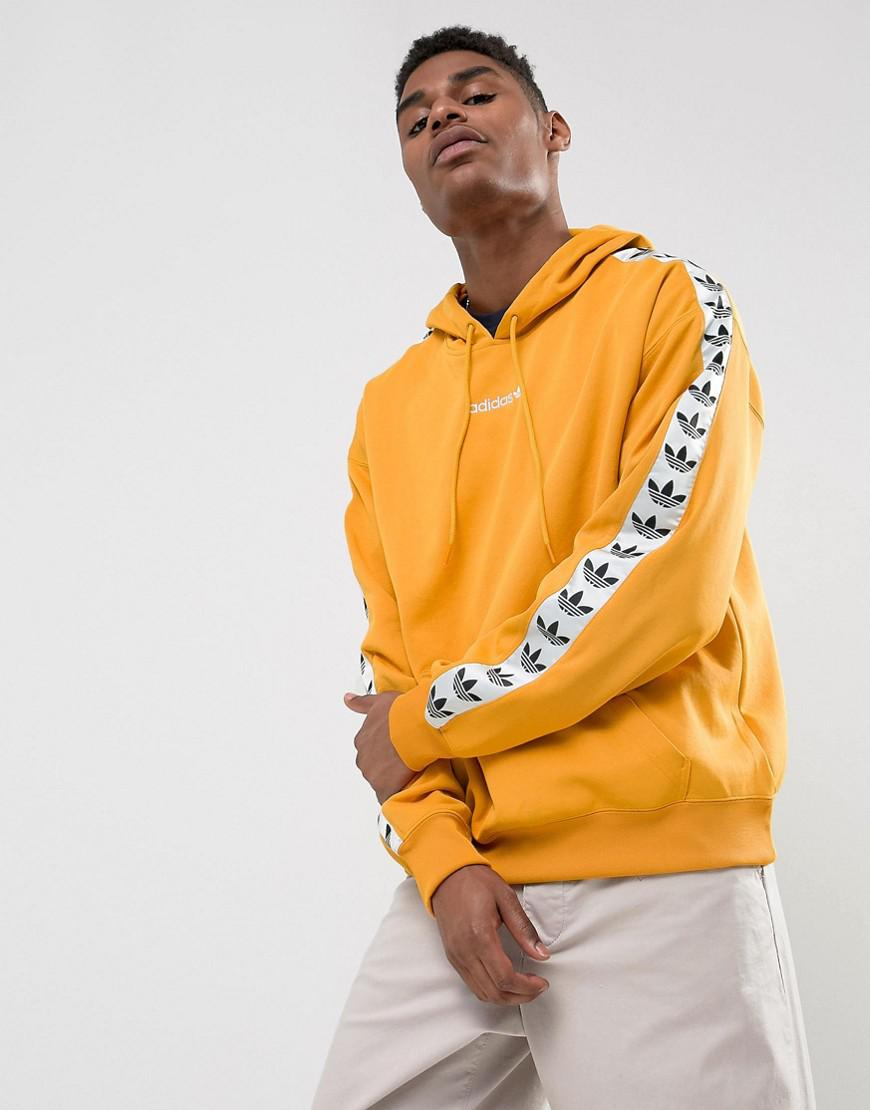d19b135706b Lyst - adidas Adicolor Tnt Tape Hoodie In Yellow Az8127 in Yellow ...