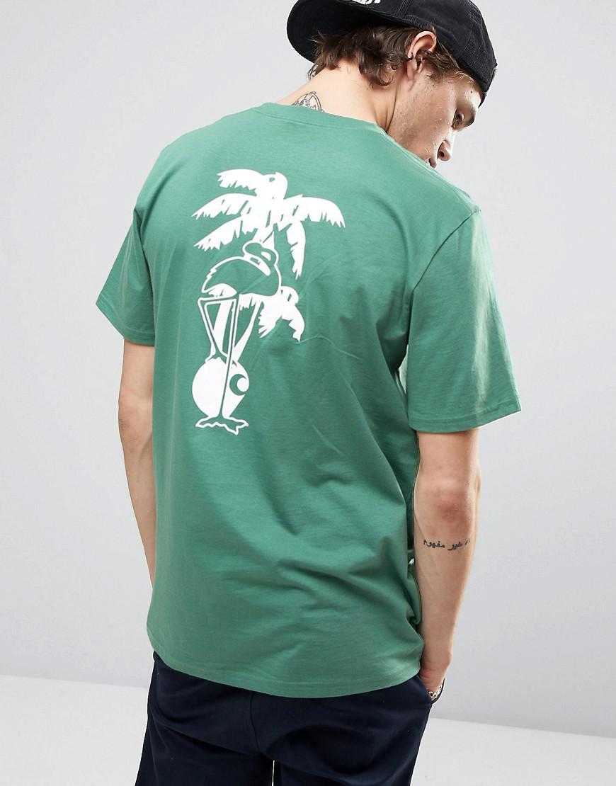 dc8c79230 Carhartt WIP Flamingo Script T-shirt in Green for Men - Lyst