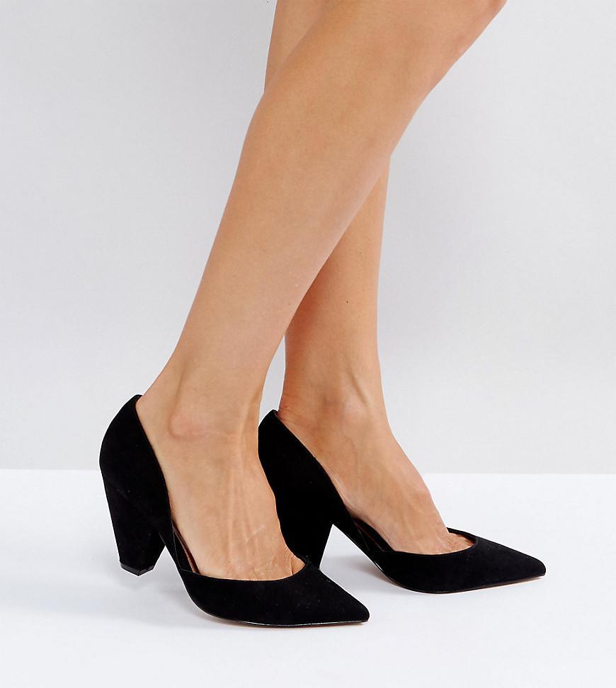 b1ccf66af8ee ASOS Asos Sulphur Wide Fit Pointed Heels in Black - Lyst