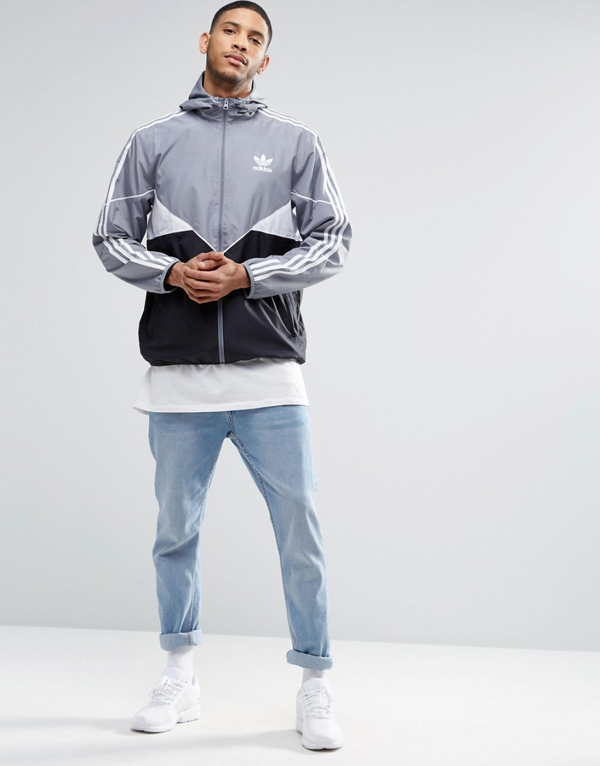 05d406ad8 adidas Originals Crdo Windbreaker Jacket Ay7728 in Gray for Men - Lyst