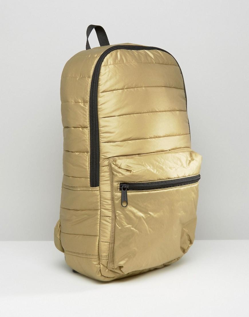 5ee25734ef Converse Quilted Metallic Backpack in Metallic - Lyst