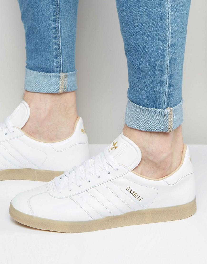 adidas originaux samoa rétro f37599 baskets blanches  homme  formateurs