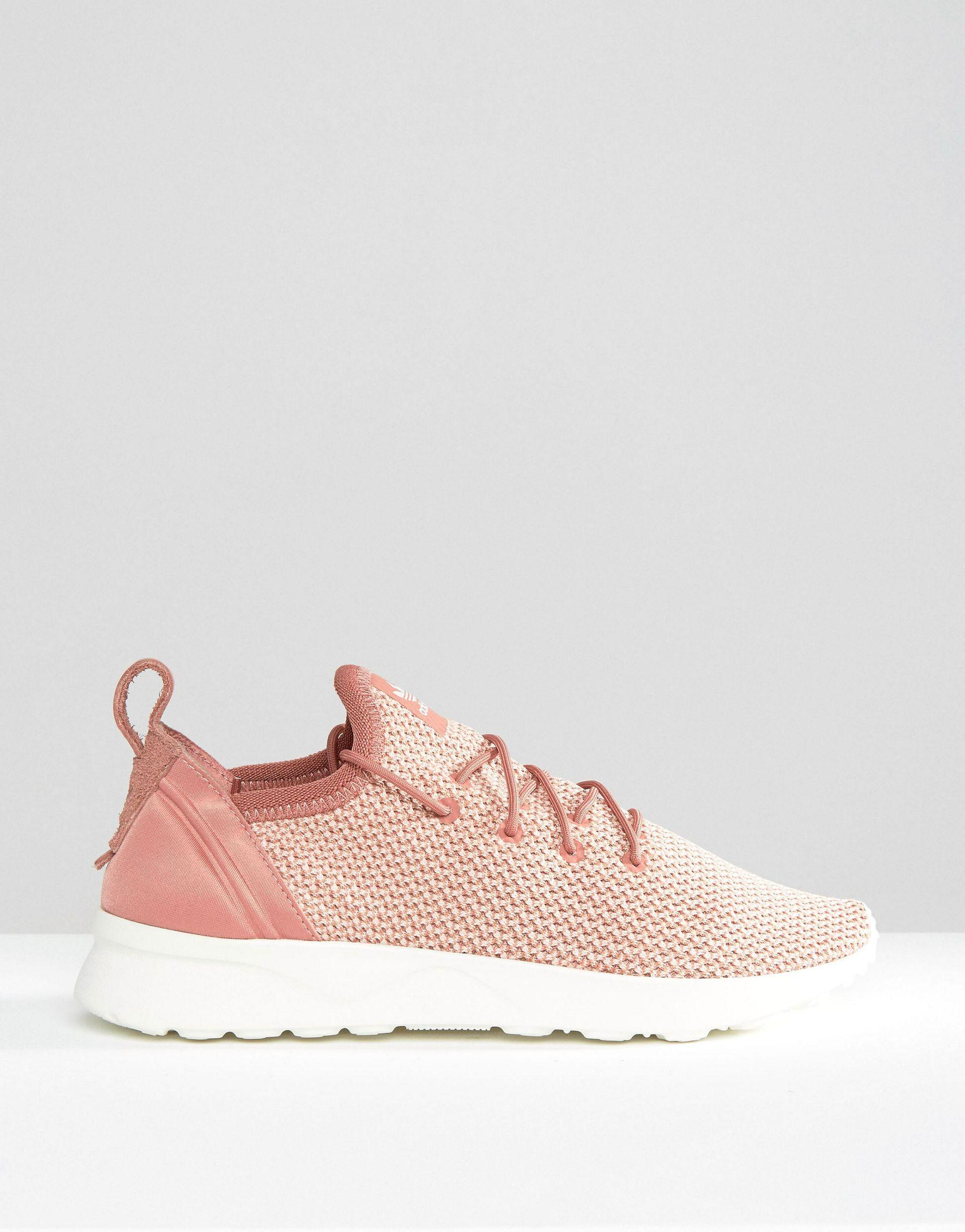 8bc52a535348 ... low price dusty pink women shoes hfr5439 lyst adidas originals originals  dusky pink zx flux adv