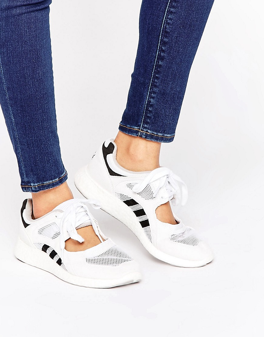62e1033b585 adidas Originals Originals White Lace Up Open Sneakers in White - Lyst