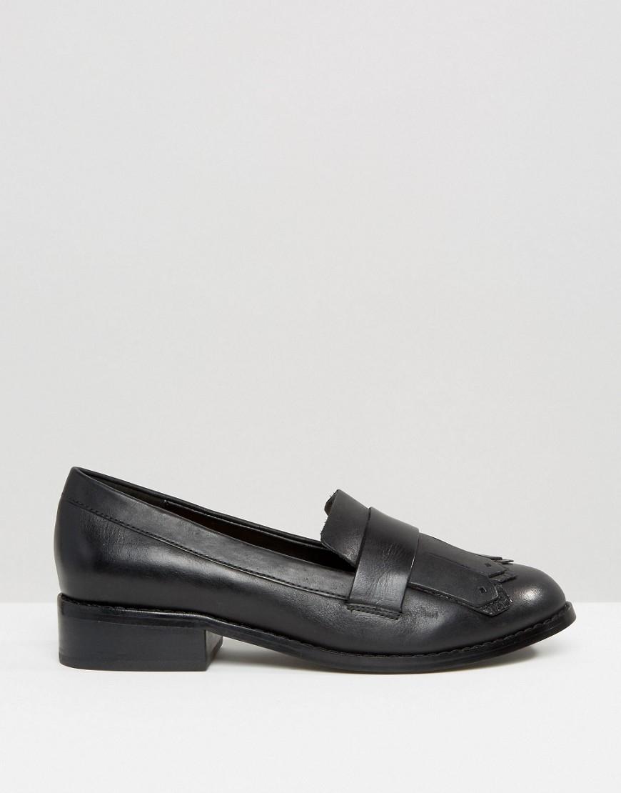 16c2bfb1512 Lyst - ALDO Mairi Fringe Leather Loafers in Black