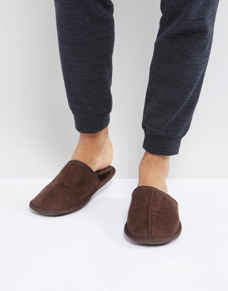 River Island Mule Slipper In Dark Brown sneakernews sale online for sale the cheapest klgOoNdF