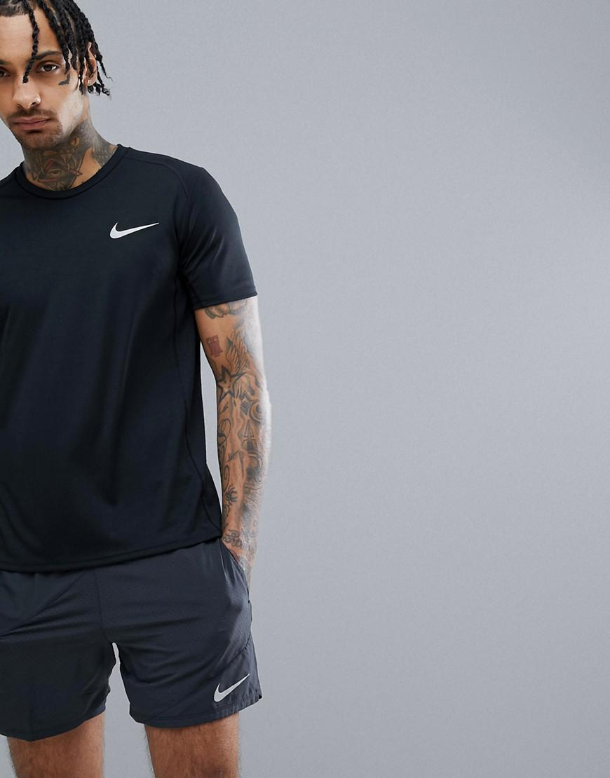 ada14c1c6d6269 Nike Miler Dri-fit T-shirt In Black 833591-010 in Black for Men - Lyst