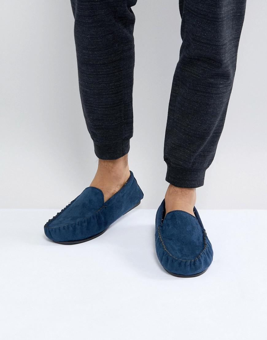 Moccasin Slipper In Navy - Navy New Look TkRXodKouT