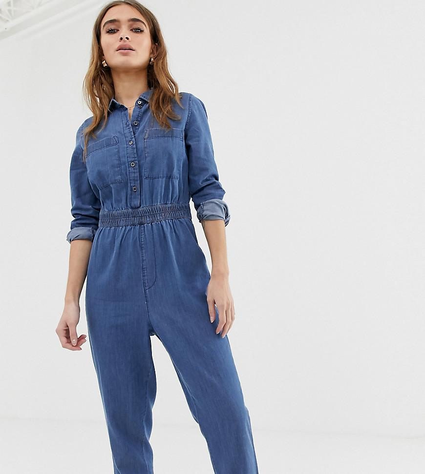 c45744ad8e5 Noisy May Petite Denim Boiler Suit in Blue - Lyst