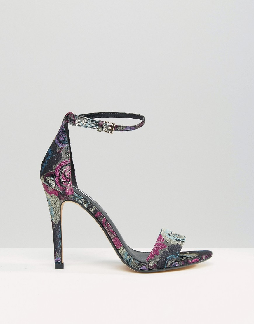 f43ba1243 Lyst - Dune Malla Floral Barely There Heeled Sandals