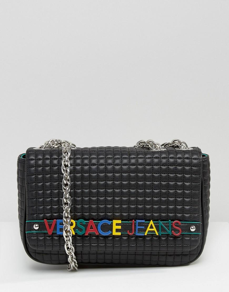 Jeans Patent Saddle Bag - Black Versace X1hVr