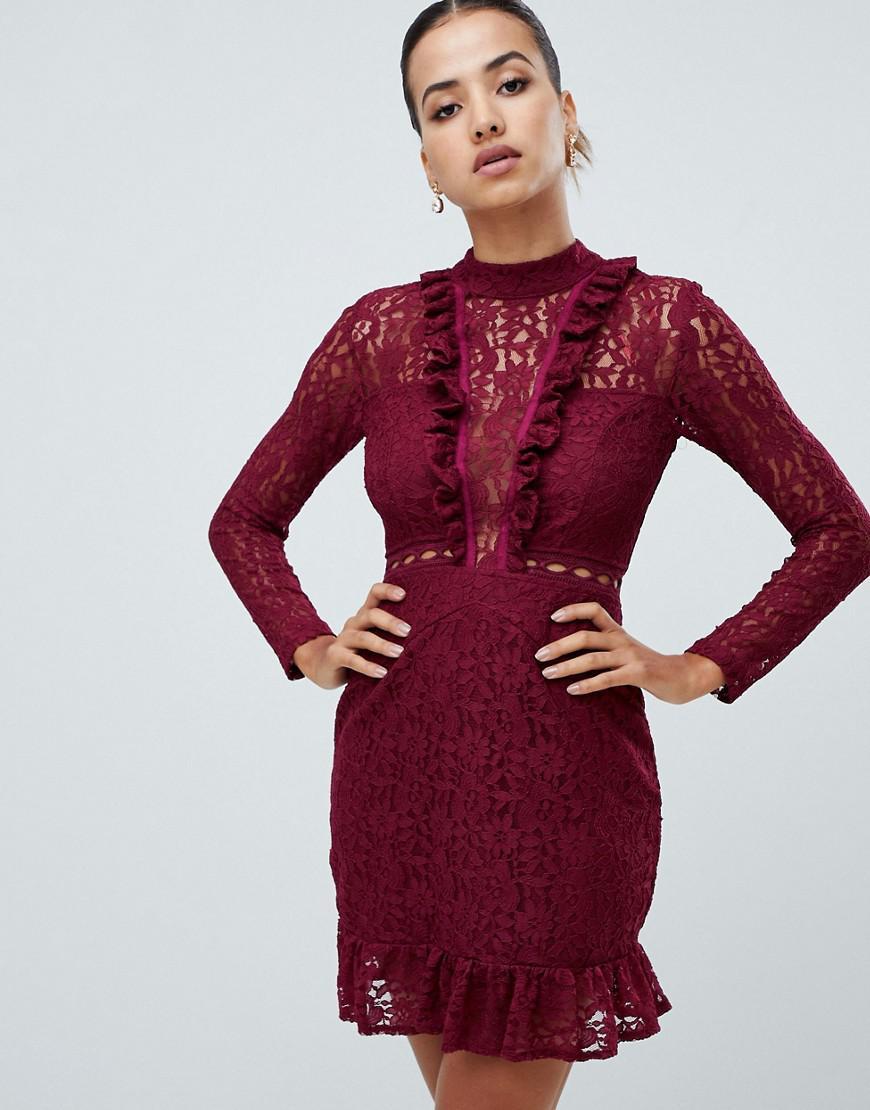68861349 Long Sleeved Lace Maxi Dress Ax Paris - raveitsafe