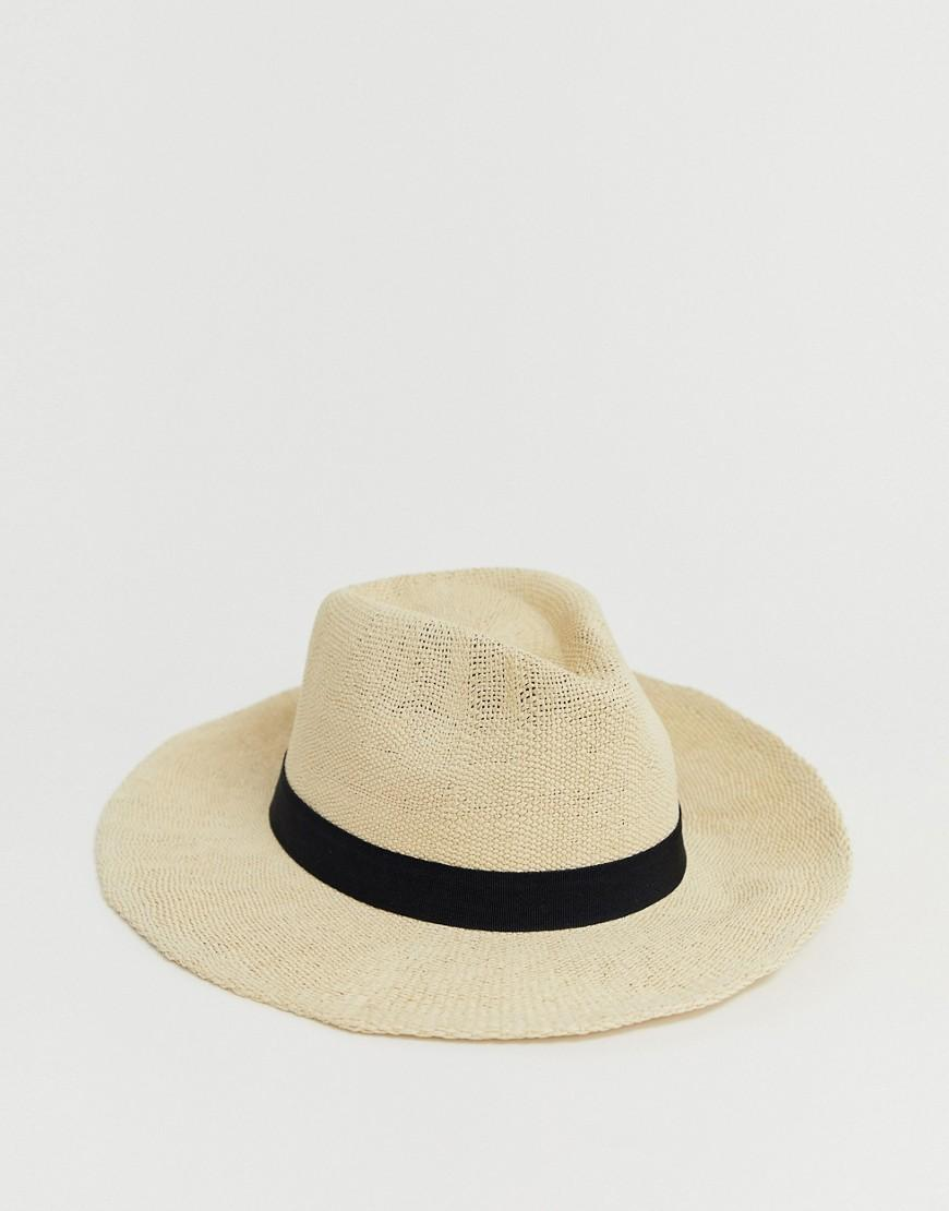 40709c1d98dad Lyst - Asos Straw Fedora With Size Adjuster in Brown
