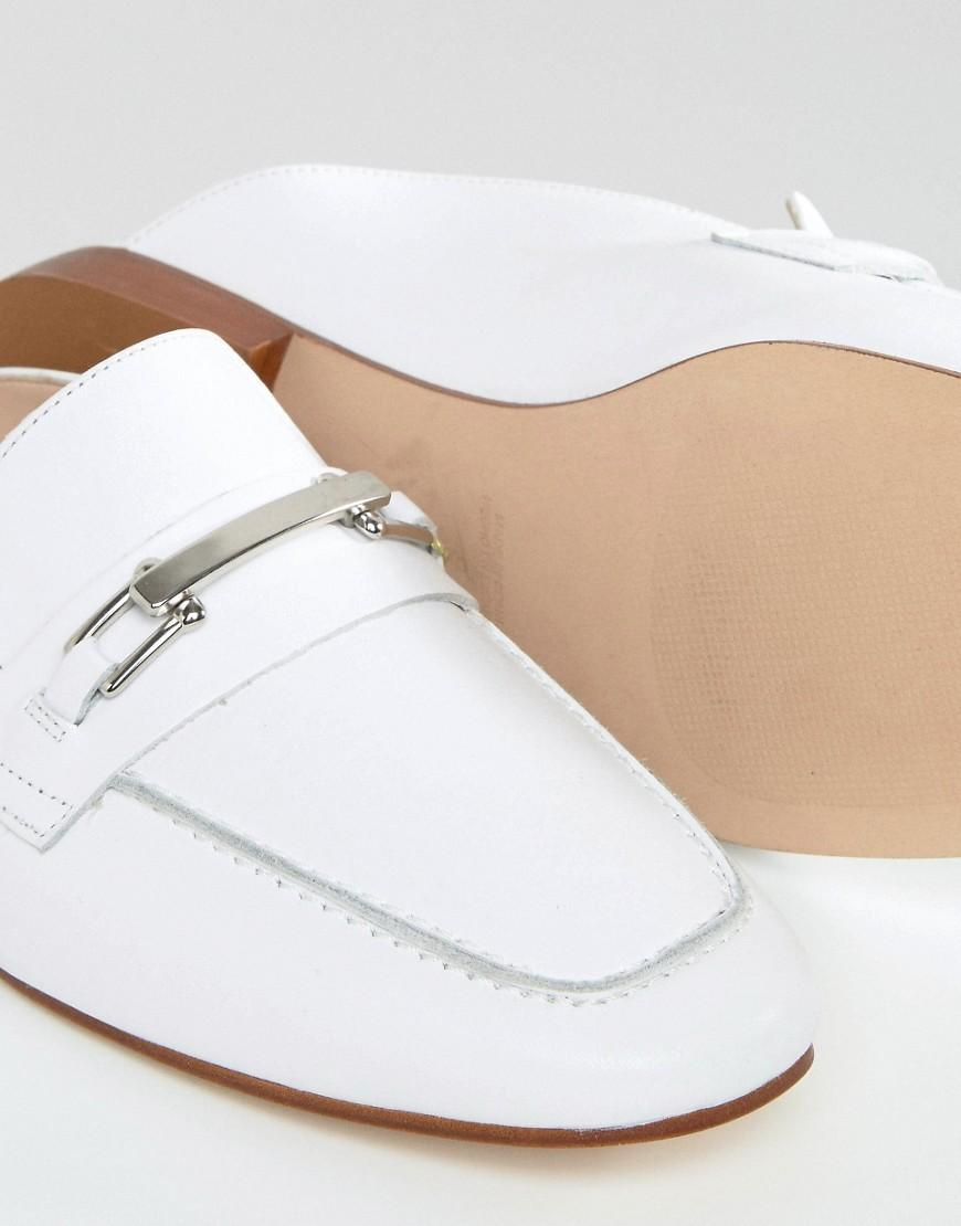 Lyst Faith Backless Leather Loafers In White