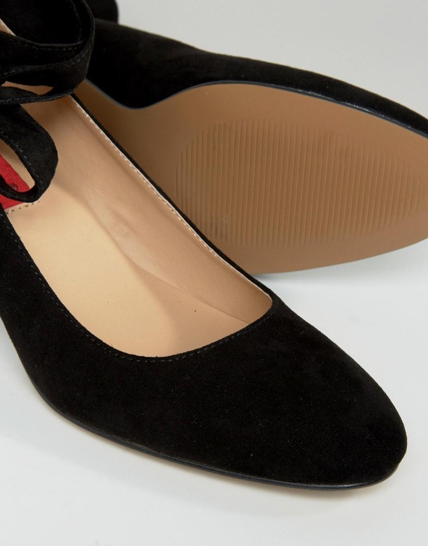 London Rebel Kitten Heel Shoe Black Us