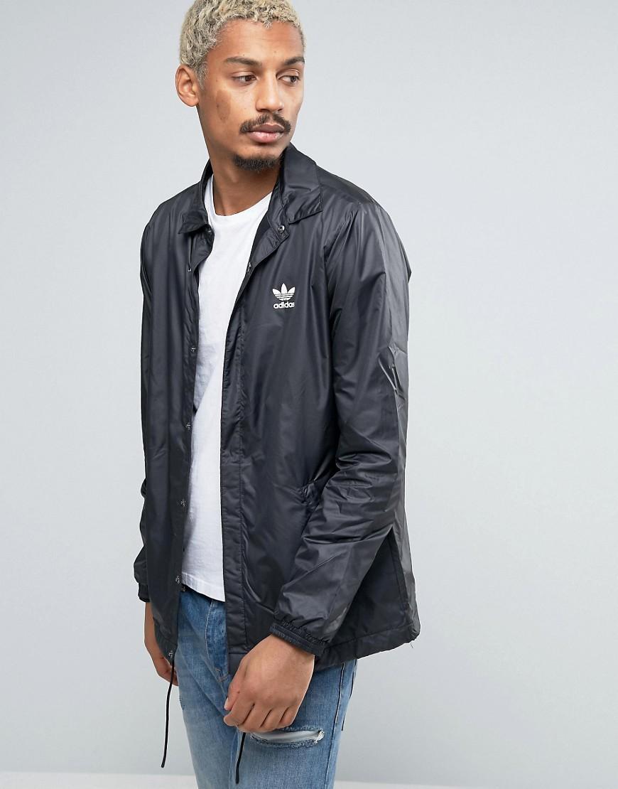 9720501fb547 Lyst - adidas Originals Blk wvn La Coach Jacket In Black Bq3523 ...