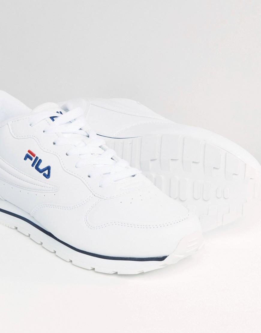 465575678b82 Fila Vintage Orbit Low Trainers in White for Men - Lyst