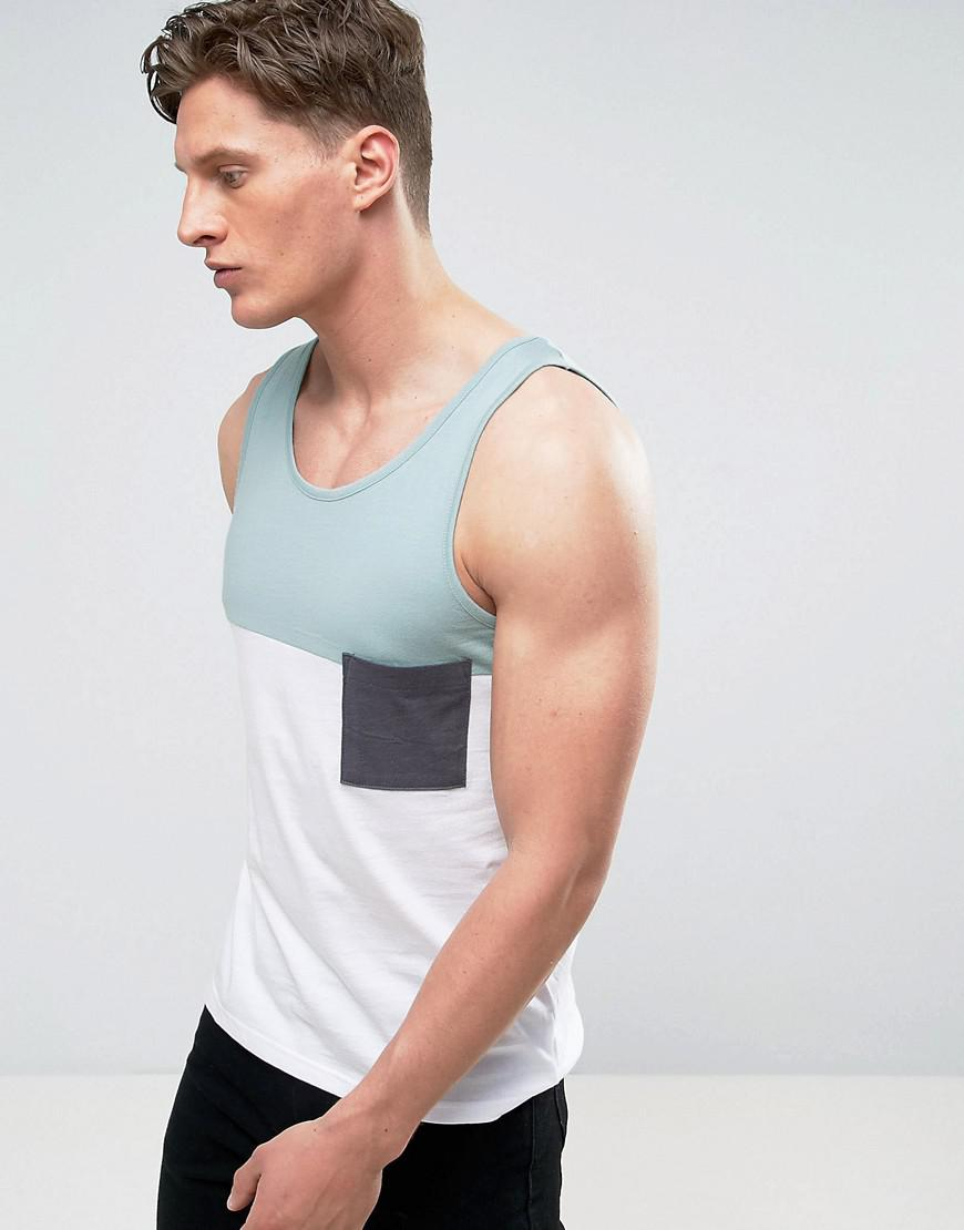 100% Original Online Discount Top Quality Khaki Colour Block Vest - Green Another Influence Discount Eastbay Purchase Cheap nOUDfD7