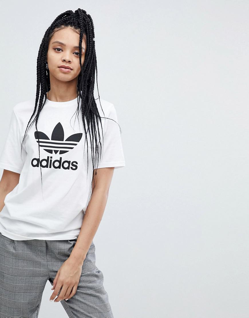 46bb4dfc adidas Originals. Women's Originals Trefoil Oversized T-shirt In White