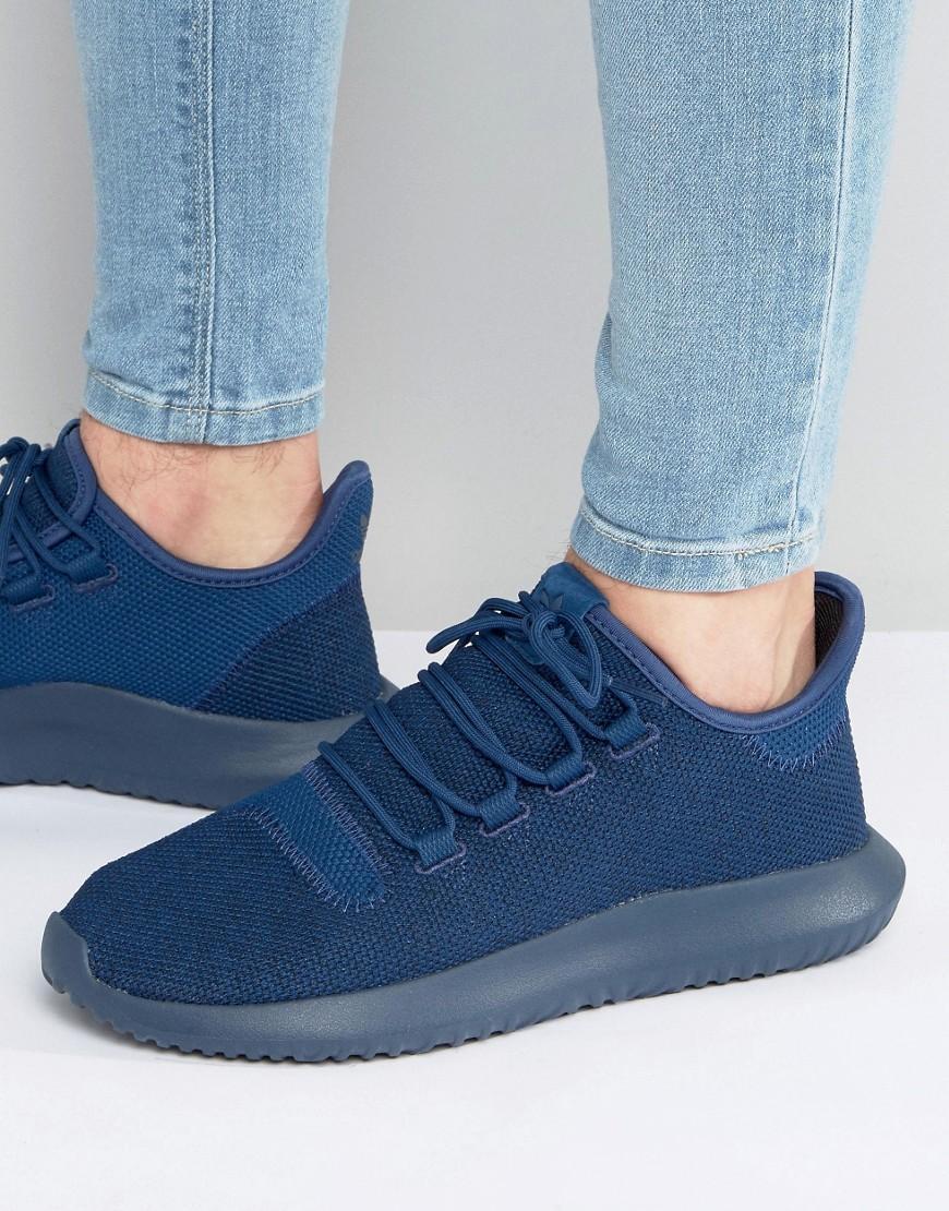 295e8049b6922a Adidas Originals - Tubular Shadow Knit Sneakers In Blue Bb8825 for Men -  Lyst. View fullscreen