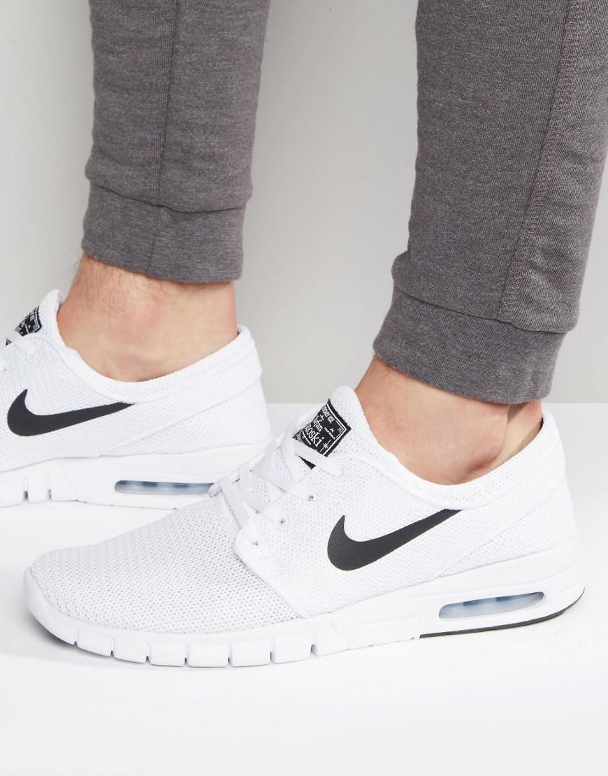 ba9afea598a9 Nike Stefan Janoski Max Sneakers In White 631303-100 in White for ...