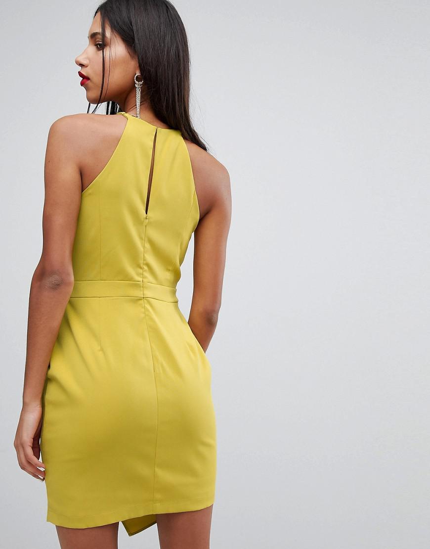 Lyst Adelyn Rae Tami Asymmetrical Sheath Dress In Yellow