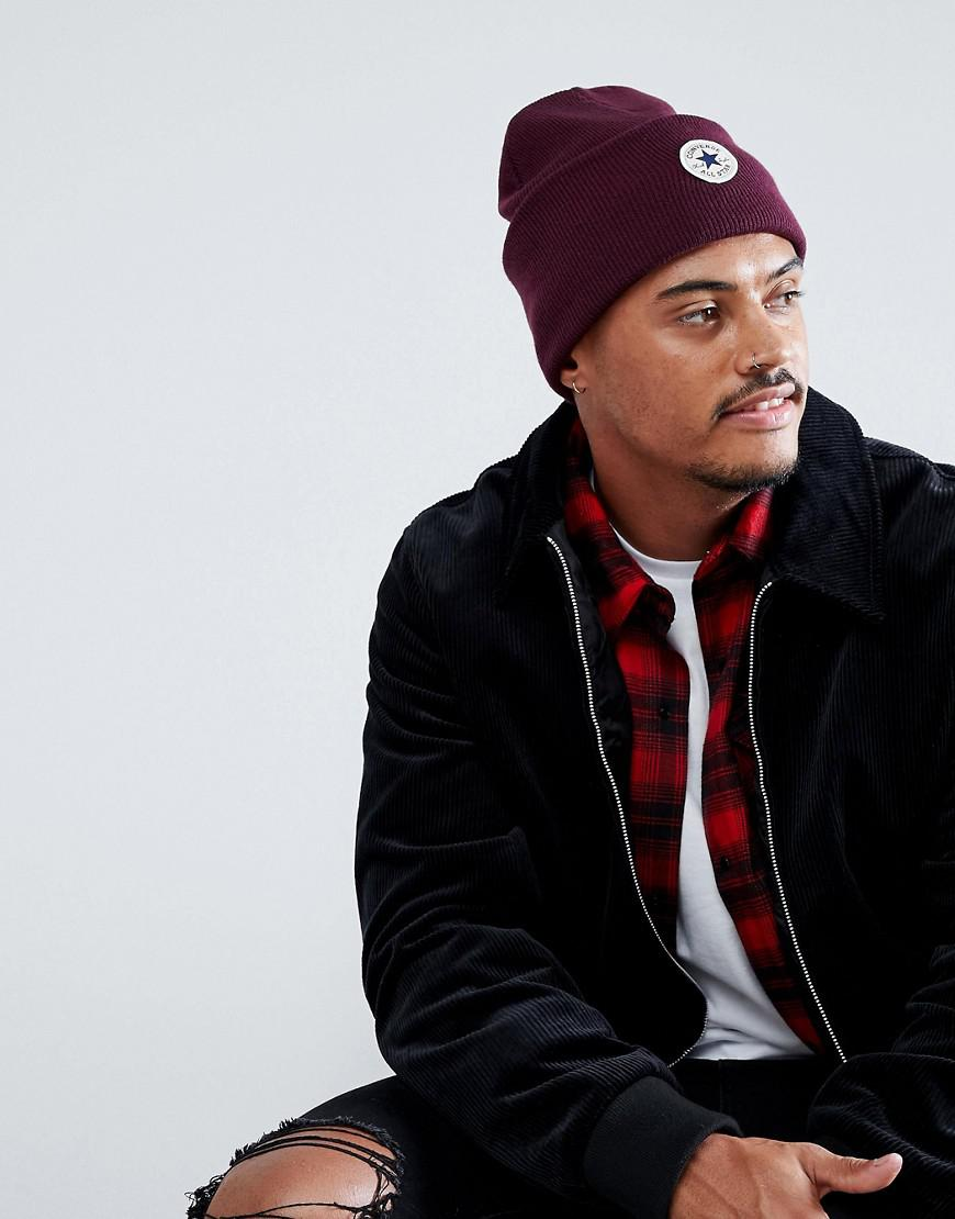 232a811f44b Lyst - Converse Beanie In Red Con588 in Red for Men