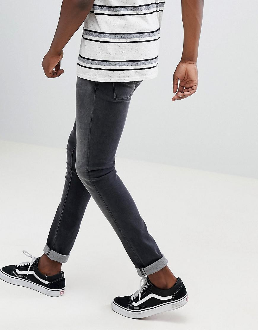 aeee9c5ec1b13 Lyst - Nudie Jeans Co Skinny Lin Jeans Black Movement in Black for Men