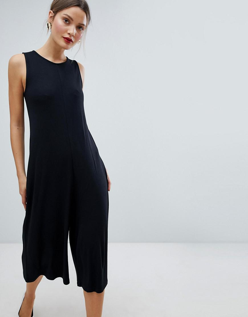 356b71f41960 French Connection Sleeveless A-line Culotte Jumpsuit in Black - Lyst