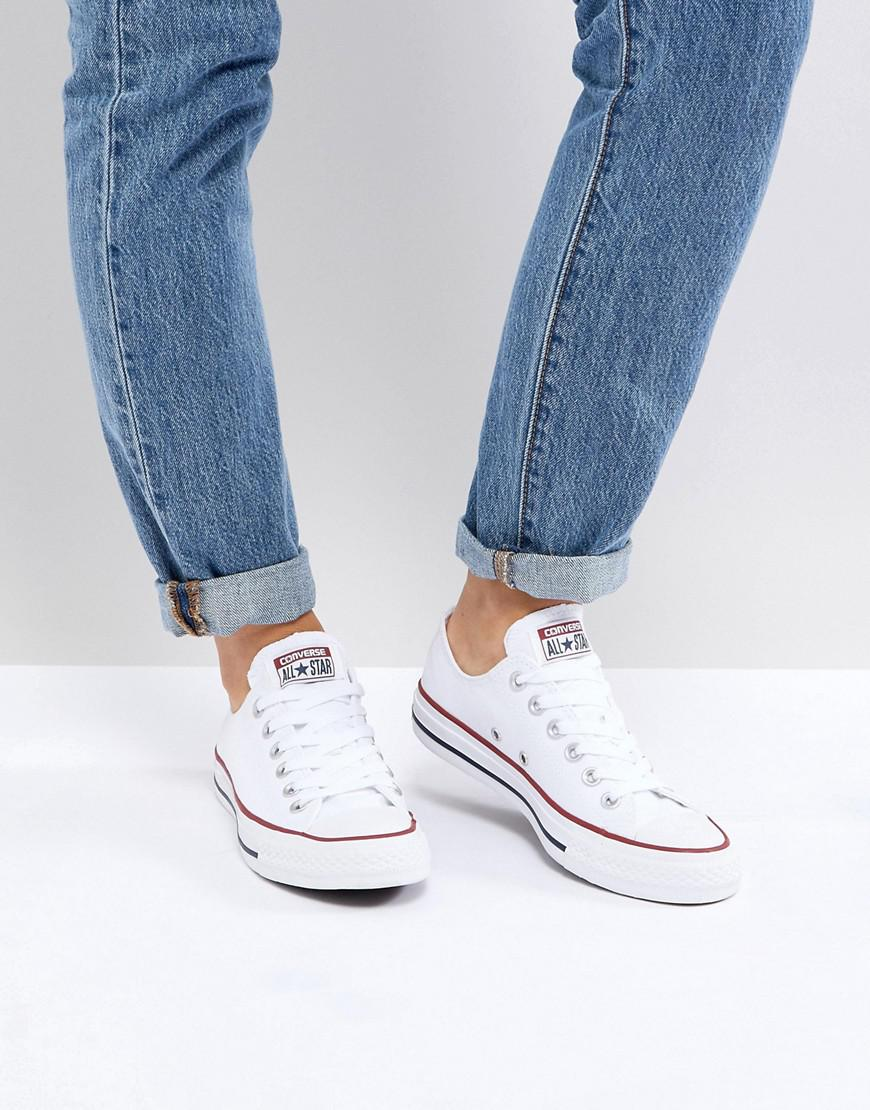 ad7476934591 Converse - Chuck Taylor All Star Core White Ox Sneakers - Lyst. View  fullscreen