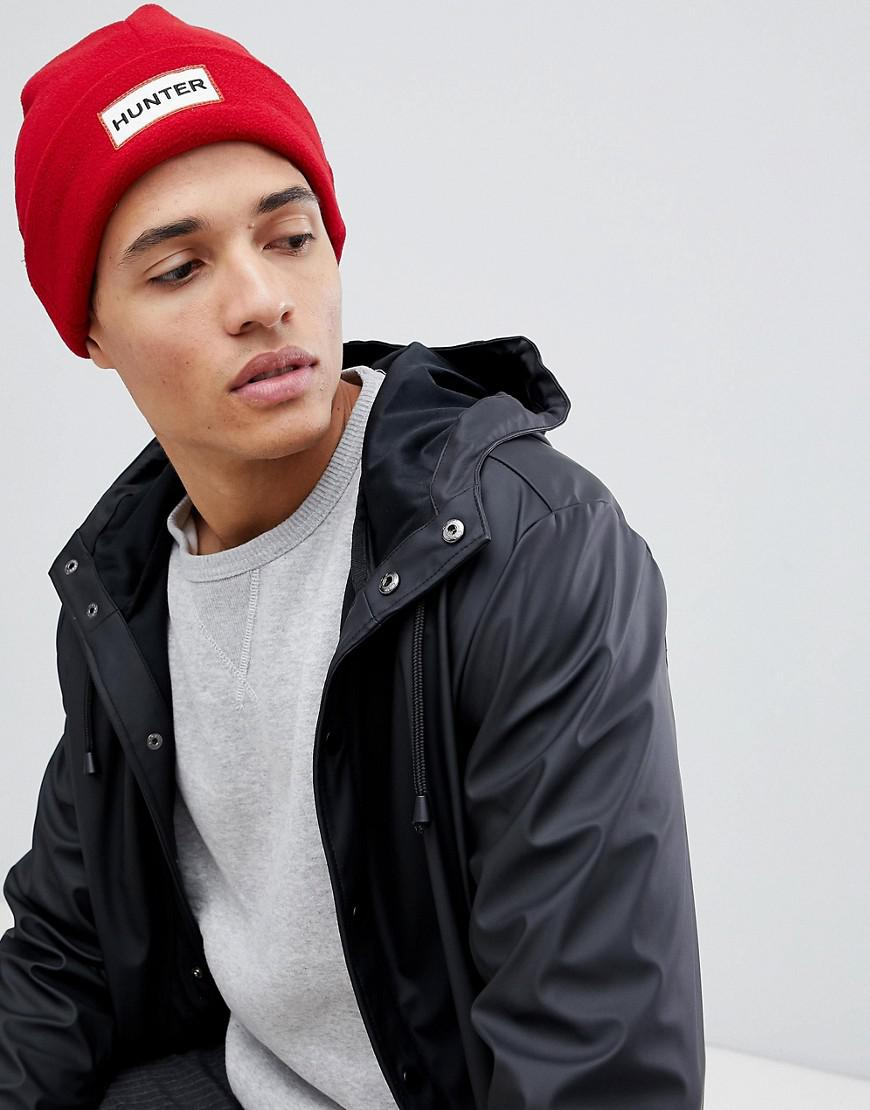2ad66e3dfc4d6e HUNTER Fleece Beanie Hat In Red in Red for Men - Lyst