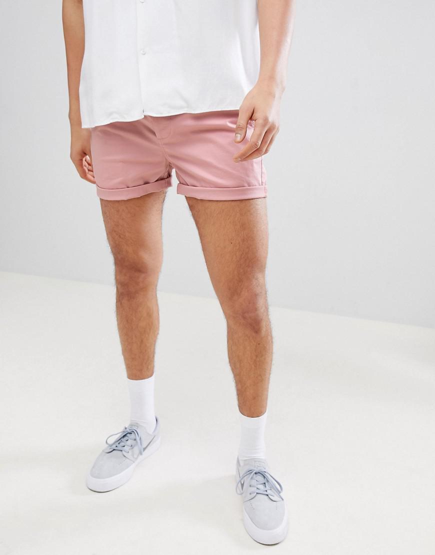 DESIGN Skinny Shorter Shorts In White With Side Tape - White Asos 43Dv4Ojih