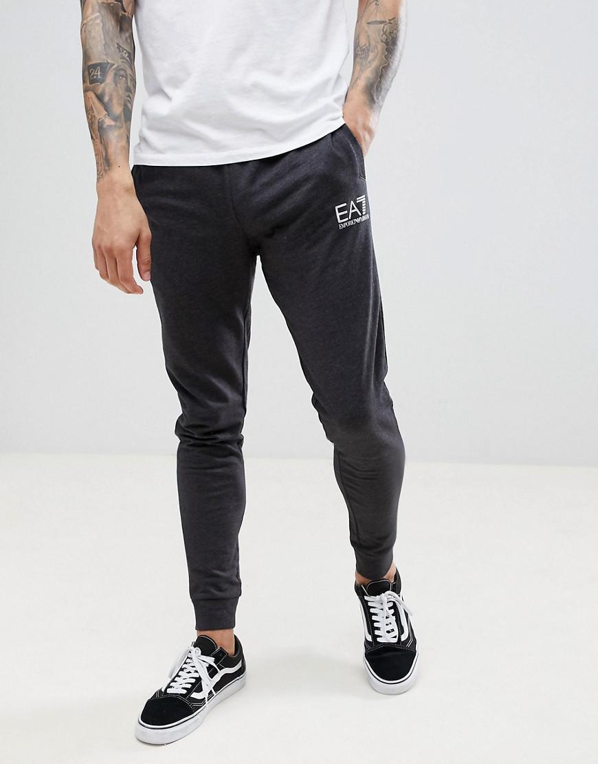 e41ccc2e01d1d Lyst - Pantalon de jogging slim en molleton avec petit logo Ea7 pour ...