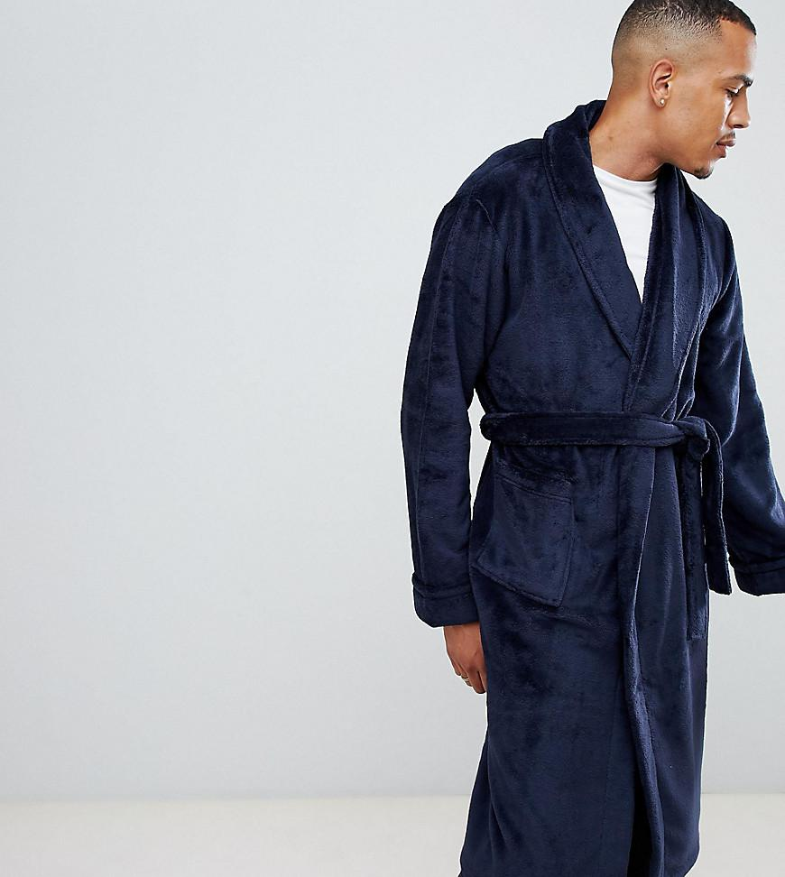 0a3877630798a Lyst - French Connection Tall Fleece Robe In Navy in Blue for Men