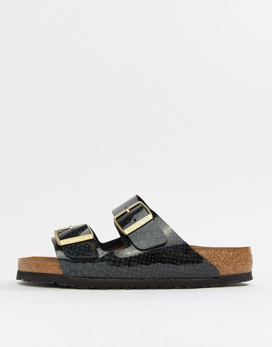 e80044eeb83c78 Birkenstock Arizona Black Magic Print Flat Sandals in Black - Save 43% -  Lyst