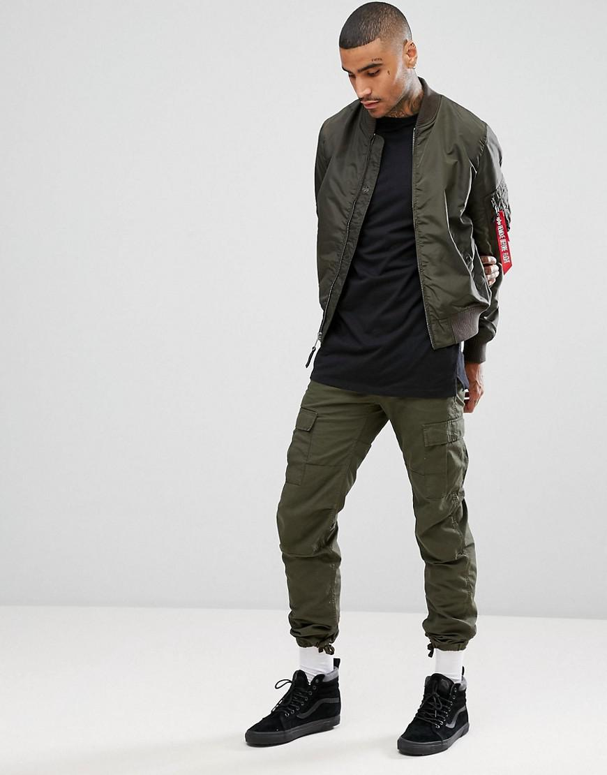 227e24bf845 Lyst - Alpha Industries Ma-1 Tt Bomber Jacket Slim Fit In Rep Grey ...