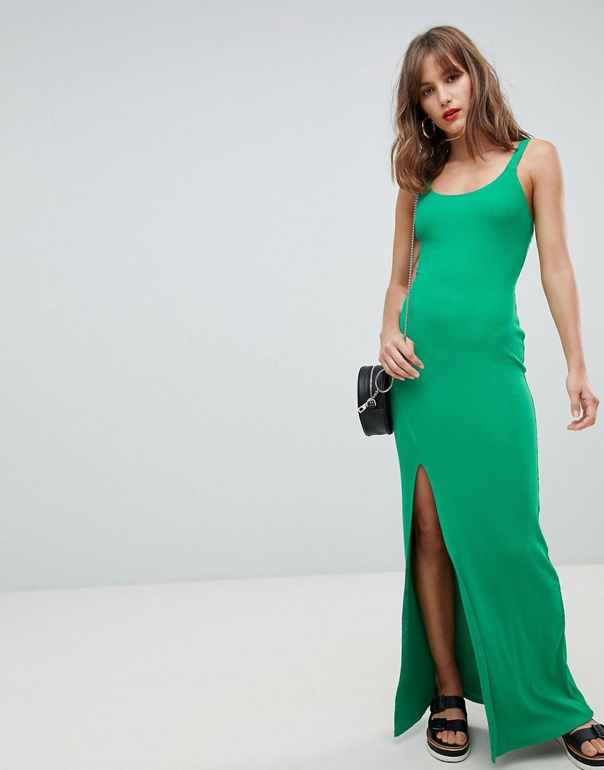 2f4ca5bb6a2f Lyst - River Island Cami Bodycon Maxi Dress in Green