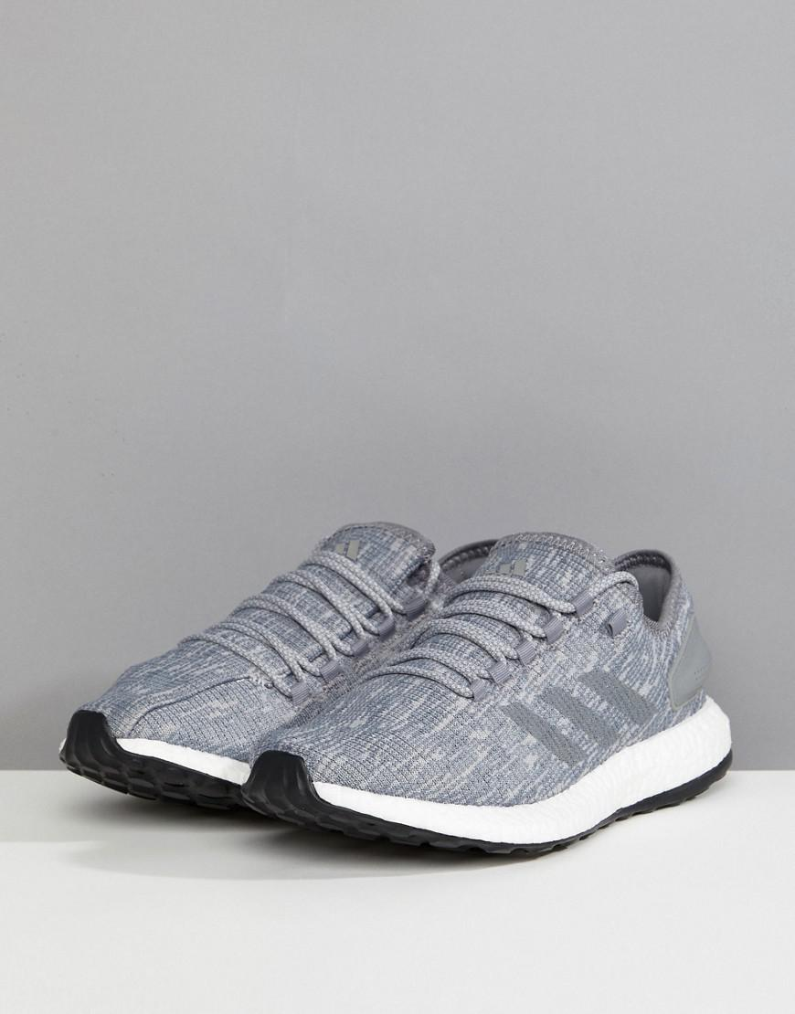 d291525ed Lyst - adidas Running Pureboost In Gray Bb6278 in Gray for Men