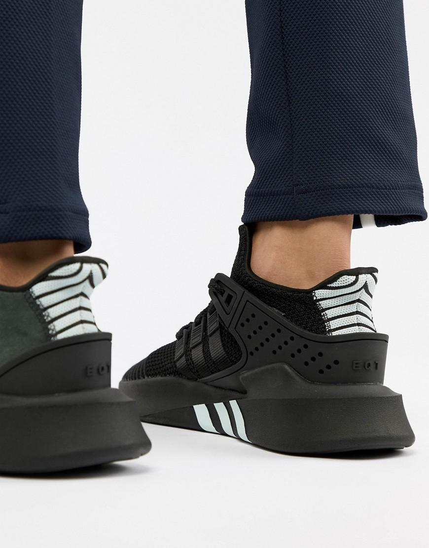 adidas Originals Eqt Bask Adv Trainers In Black Cq2991 in Black for ... 4bcb33e316