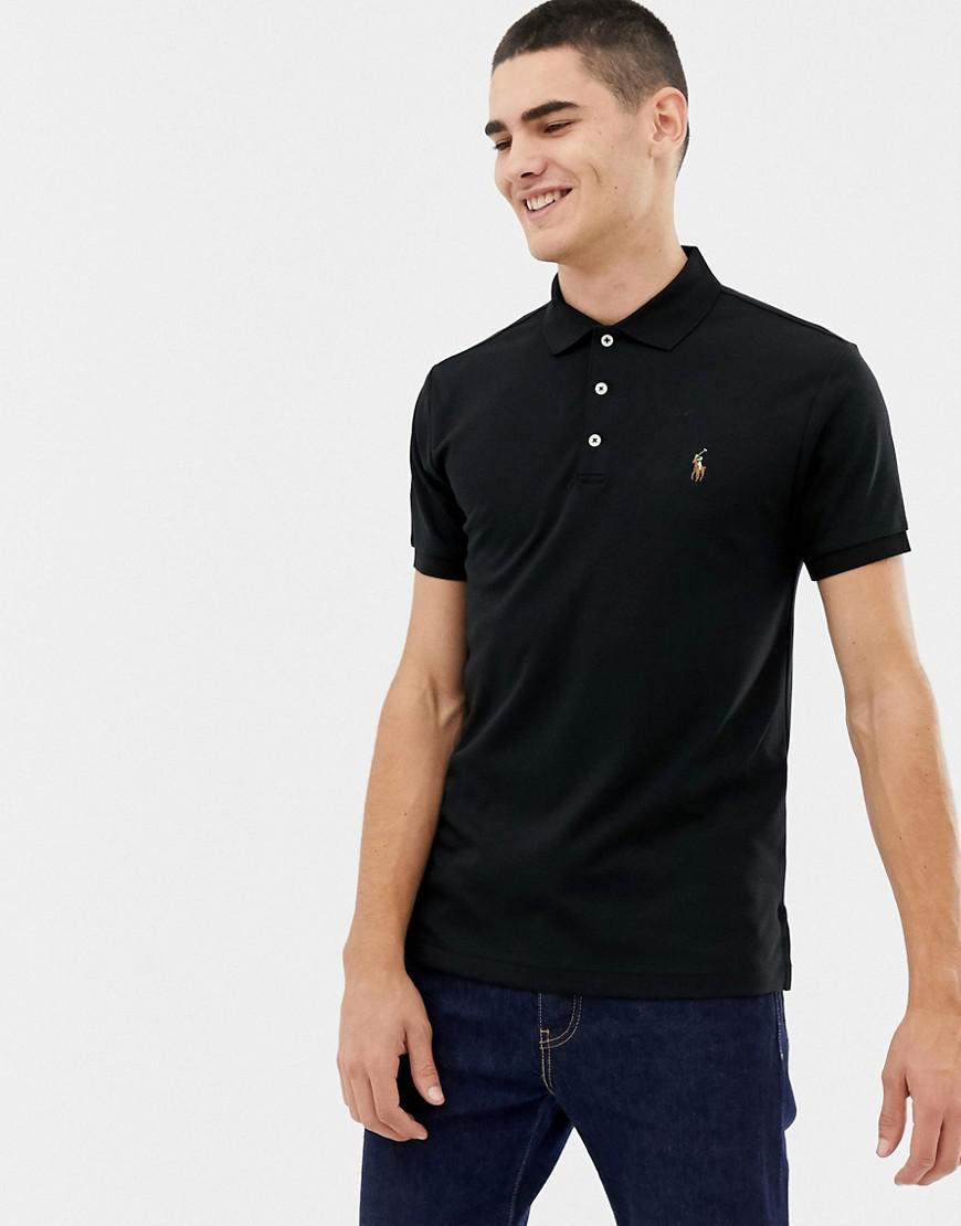53b113fa7d22 Polo Ralph Lauren. Men s Slim Fit Pima Soft Touch Polo Multi Player In Black
