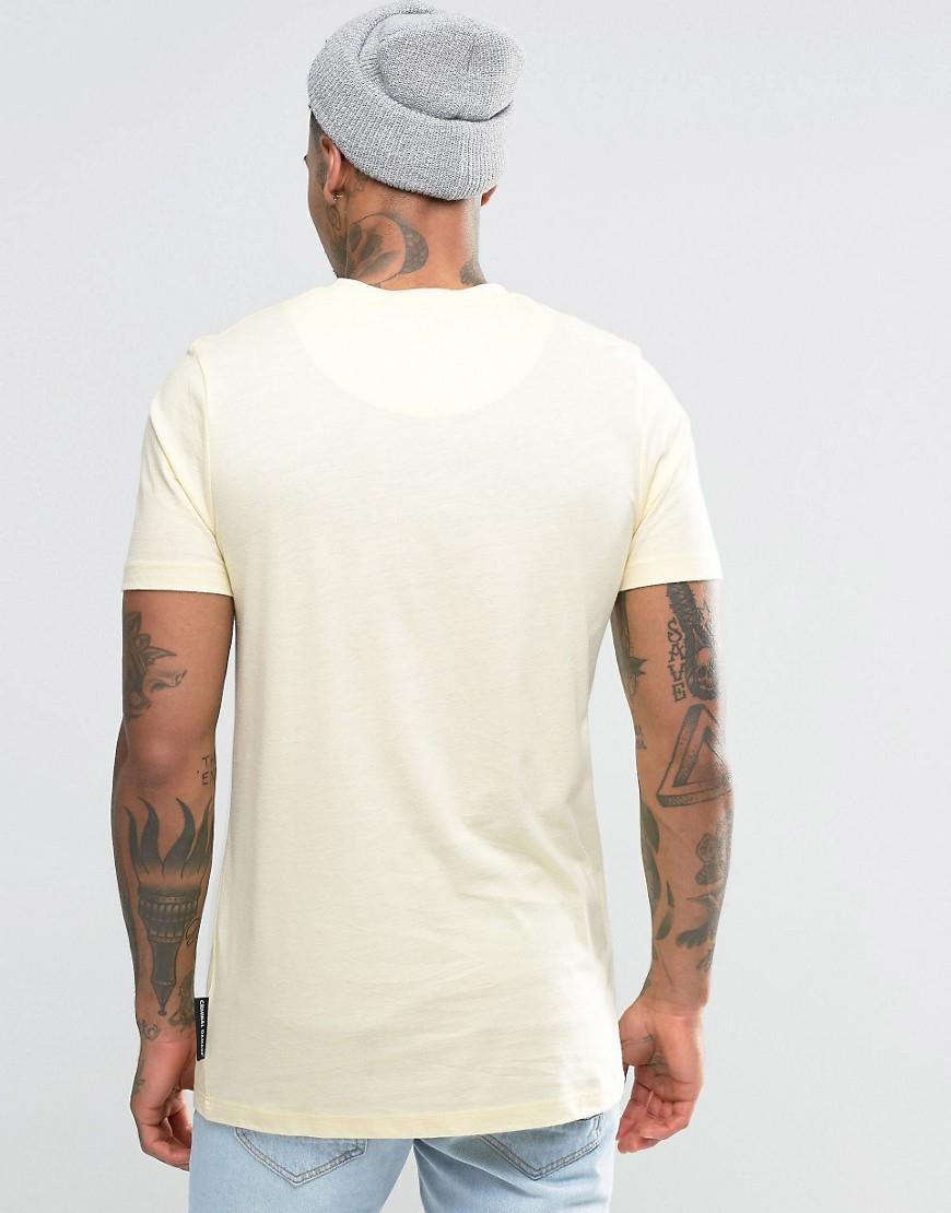 lyst criminal damage t shirt with small logo for men. Black Bedroom Furniture Sets. Home Design Ideas