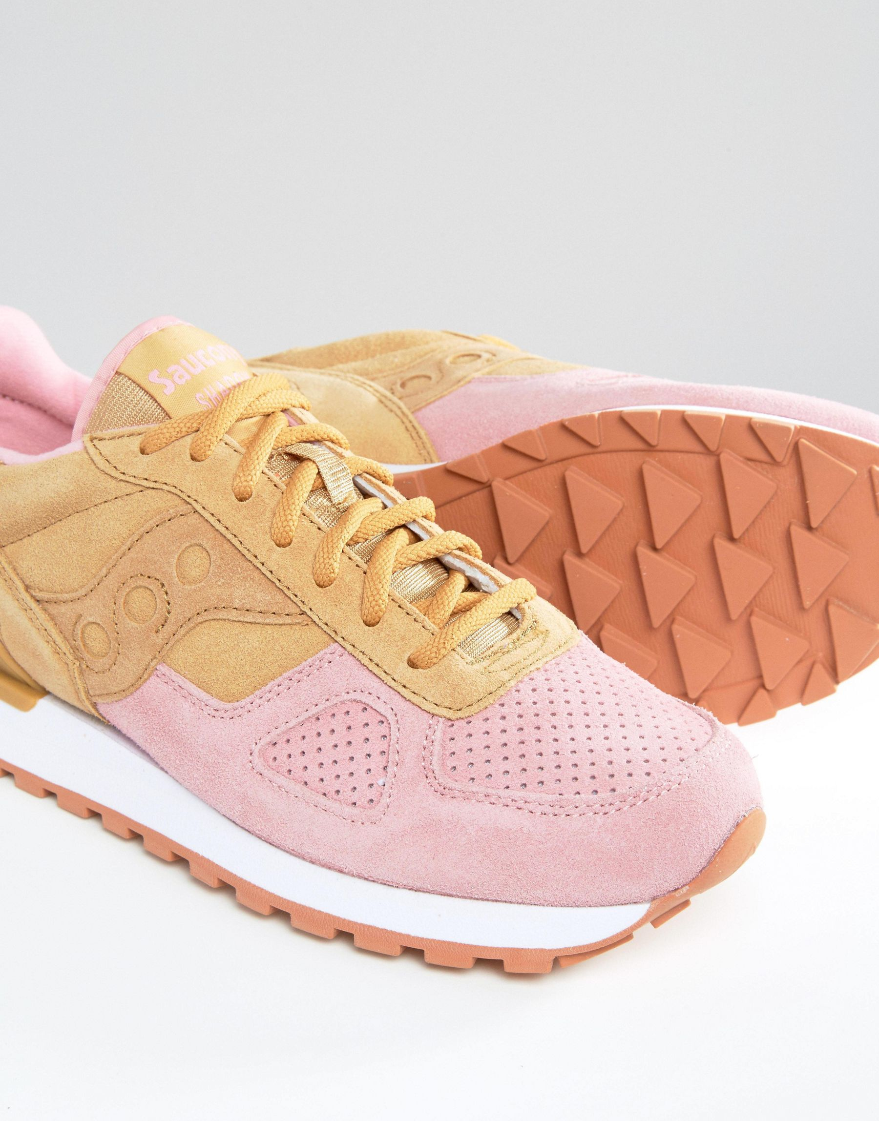 b8b19e50954f Lyst - Saucony Shadow Original Cannoli Trainers - Tan pink in Pink