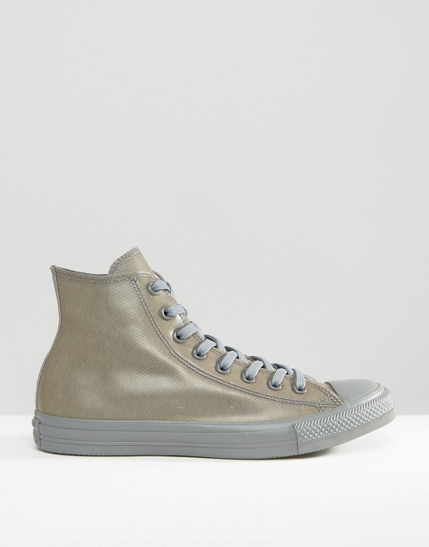 842acb10631d Converse Chuck Taylor All Star Rubber Plimsolls In Grey 153801c-048 ...