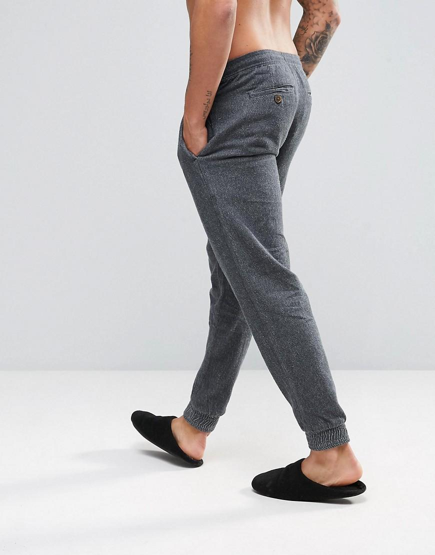 Lyst Ted Baker Joggers With Cuffed Ankle In Gray For Men
