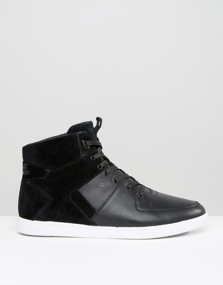 lyst boxfresh camberwell hi top sneakers in black for men. Black Bedroom Furniture Sets. Home Design Ideas