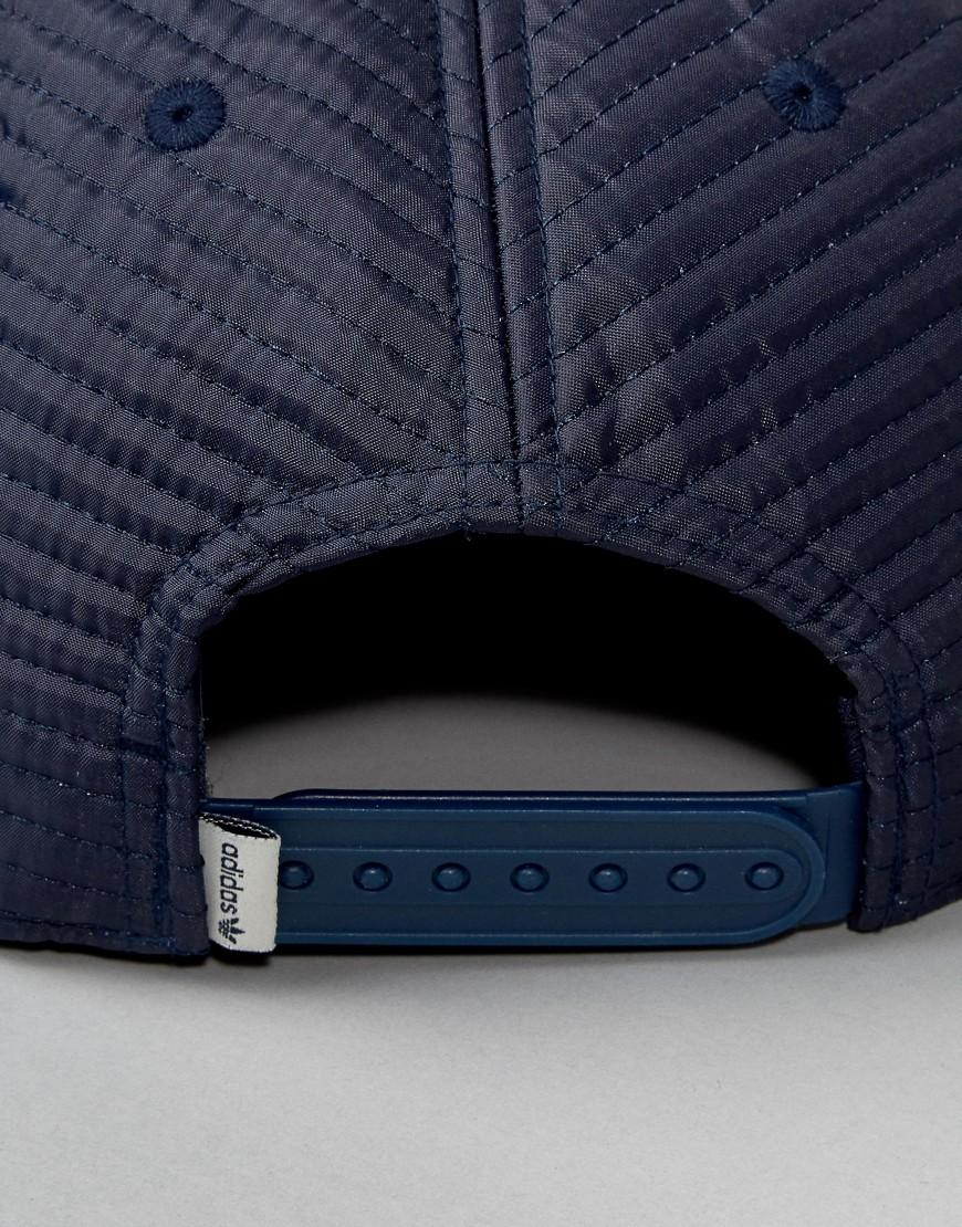 cd7b3893504 Lyst - adidas Originals Originals Navy Quilted Cap - Navy in Blue