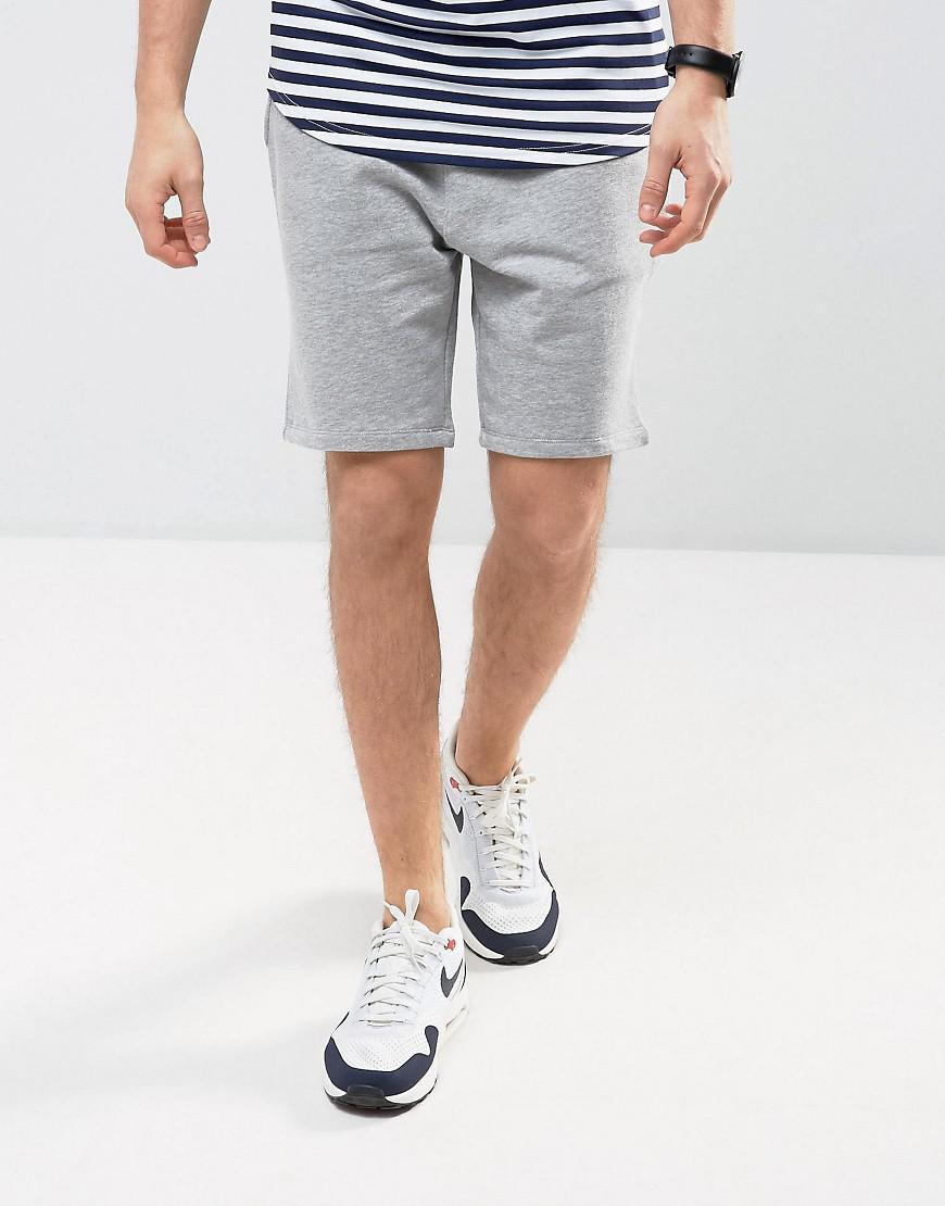 ASOS. Men's Gray Jersey Skinny Shorts ...