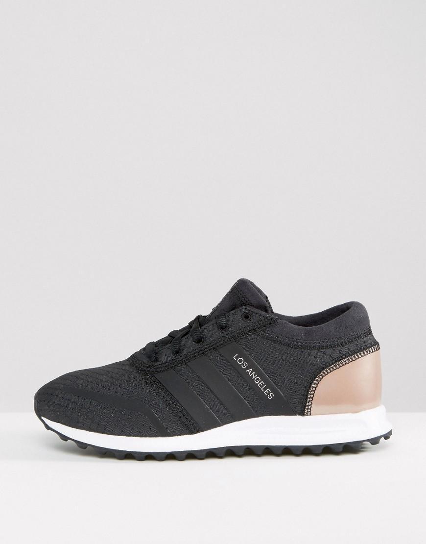 adidas Originals Originals Black And Copper Los Angeles Sneakers in ... 9fb576fc5