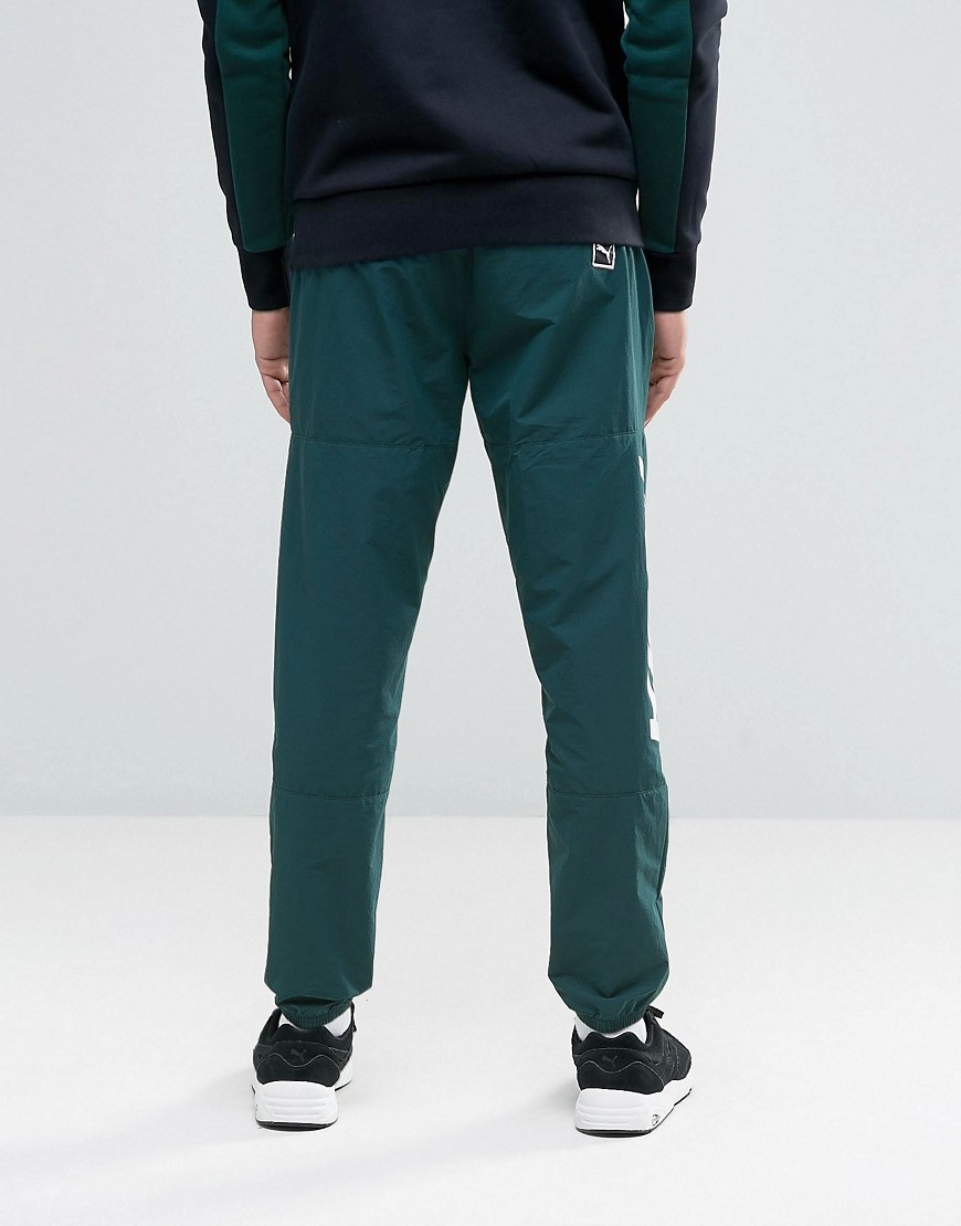 096a25877a4a Puma Speed Font Woven Joggers In Green 57161006 in Green for Men - Lyst