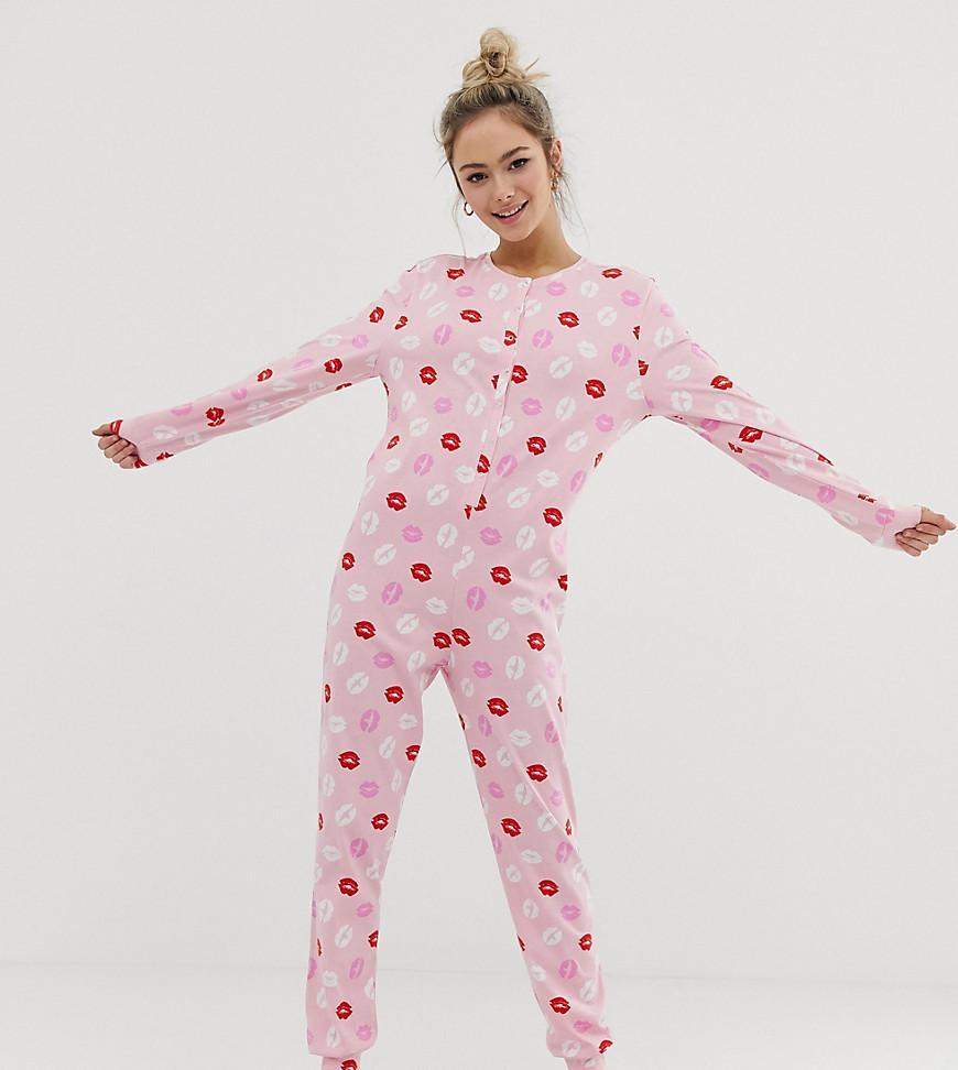 81f6b8b23c56 Girls Footie Pajamas With White Lips